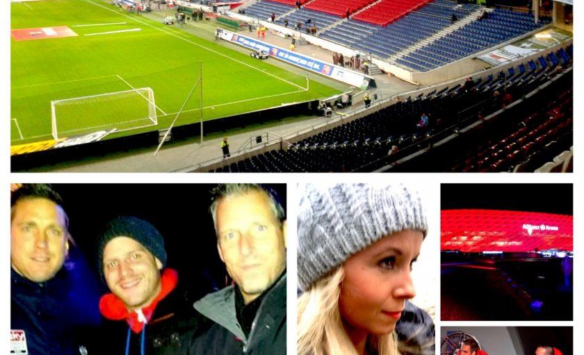 Unsere erste Pressekonferenz vor der Allianz Arena mit GoodYear und dem FC Bayern München