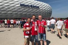 Die Fußballfreunde beim Spiel gegen Frankfurt